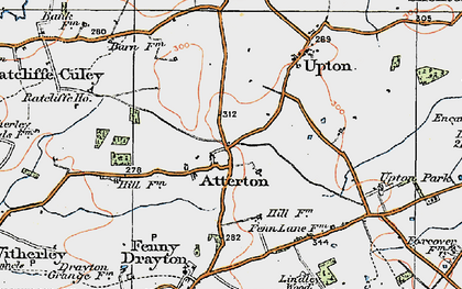 Old map of Atterton in 1921
