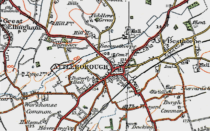 Old map of Westcar in 1921