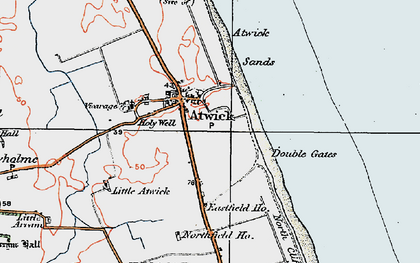 Old map of Atwick in 1924