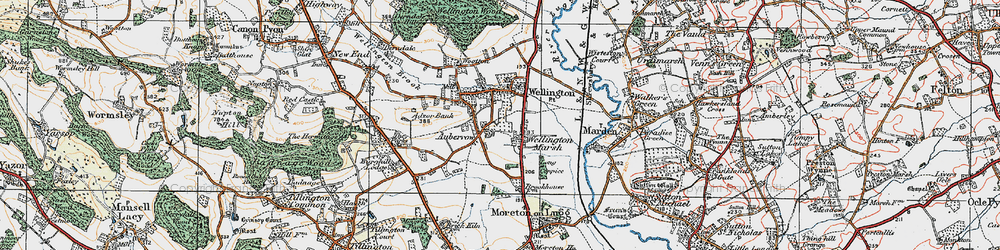 Old map of Adzor Bank in 1920