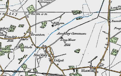 Old map of Auckley Common in 1923