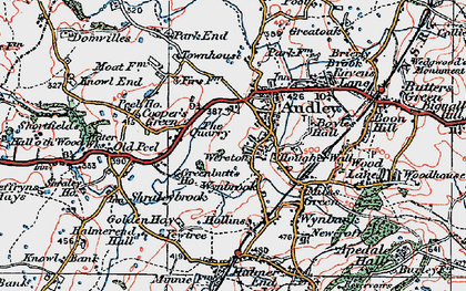 Old map of Audley in 1921