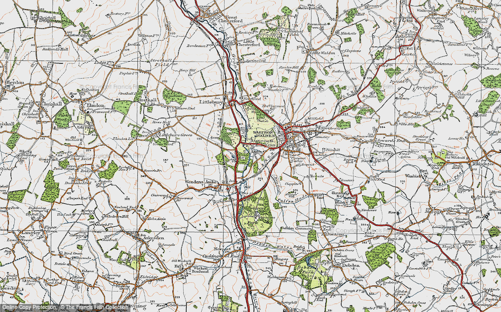 Old Map of Audley End, 1920 in 1920