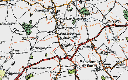 Old map of Audley End in 1921