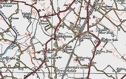 Old map of Aughton in 1923