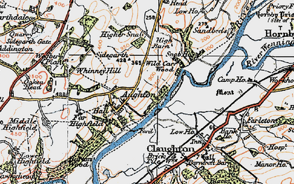 Old map of Whinney Hill in 1924