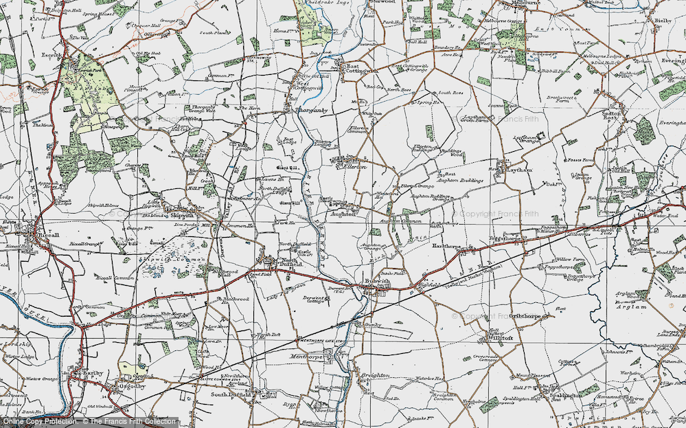 Old Map of Aughton, 1924 in 1924