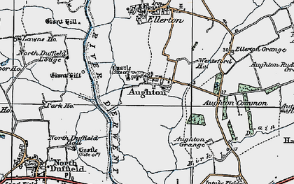 Old map of Aughton in 1924