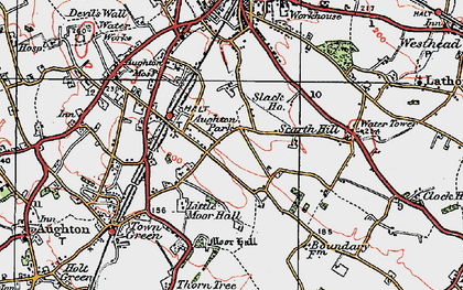 Old map of Aughton Park in 1923