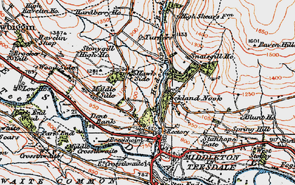 Old map of Aukside in 1925
