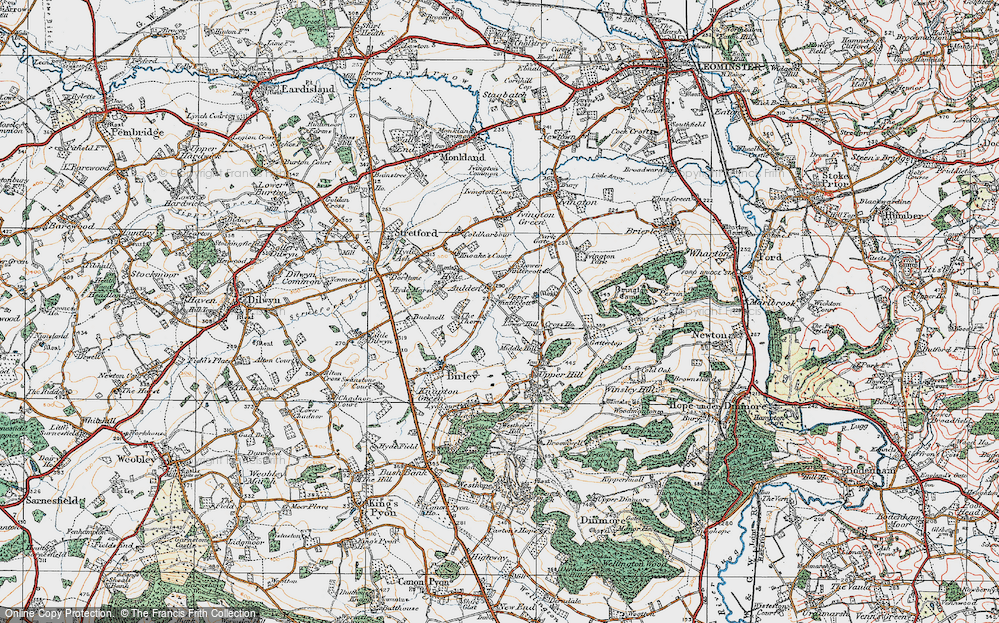 Old Map of Aulden, 1920 in 1920