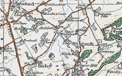 Old map of Aulden in 1920