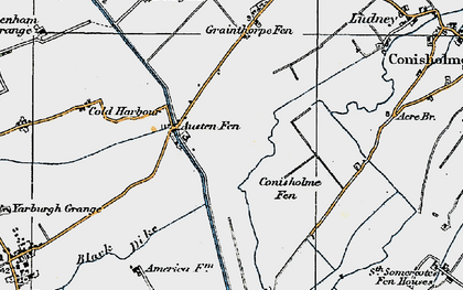Old map of Austen Fen in 1923