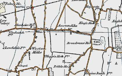 Old map of Austendike in 1922
