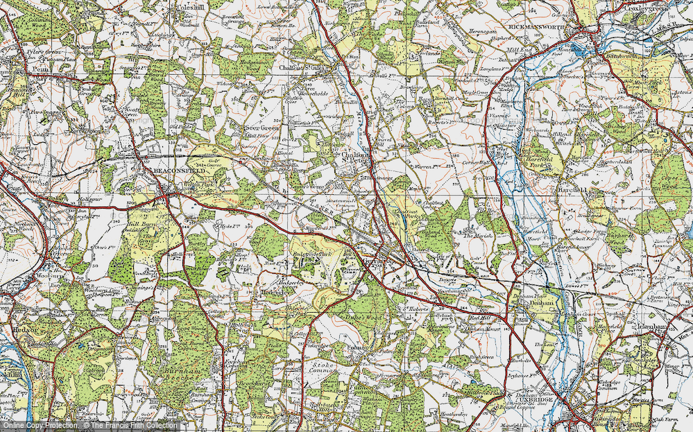 Old Map of Austenwood, 1920 in 1920