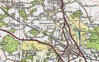 Old map of Austenwood in 1920
