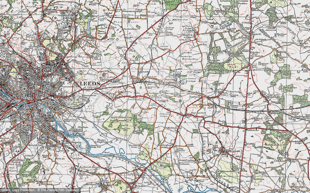 Old Map of Austhorpe, 1925 in 1925