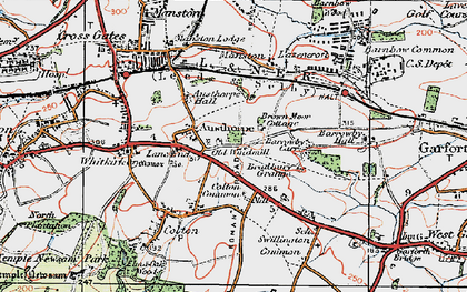 Old map of Austhorpe in 1925