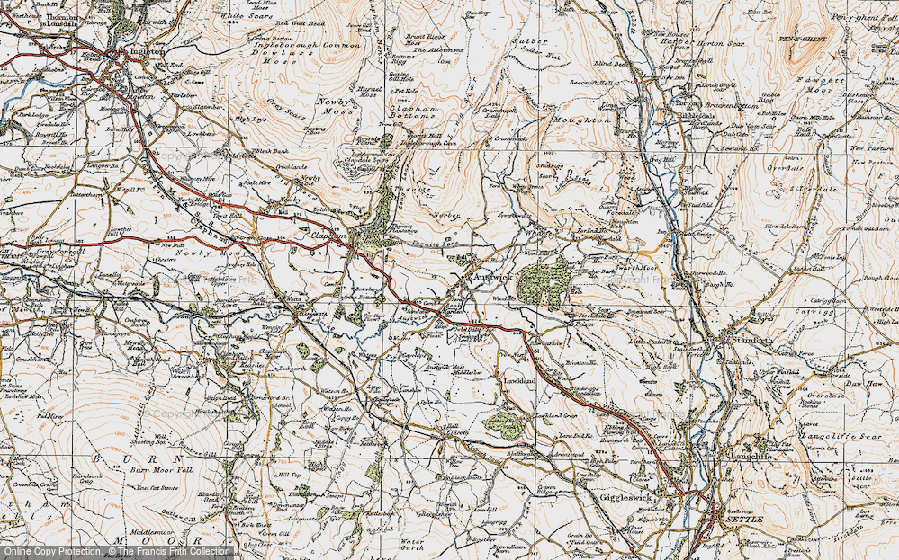 Old Map of Austwick, 1924 in 1924