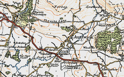 Old map of Austwick in 1924