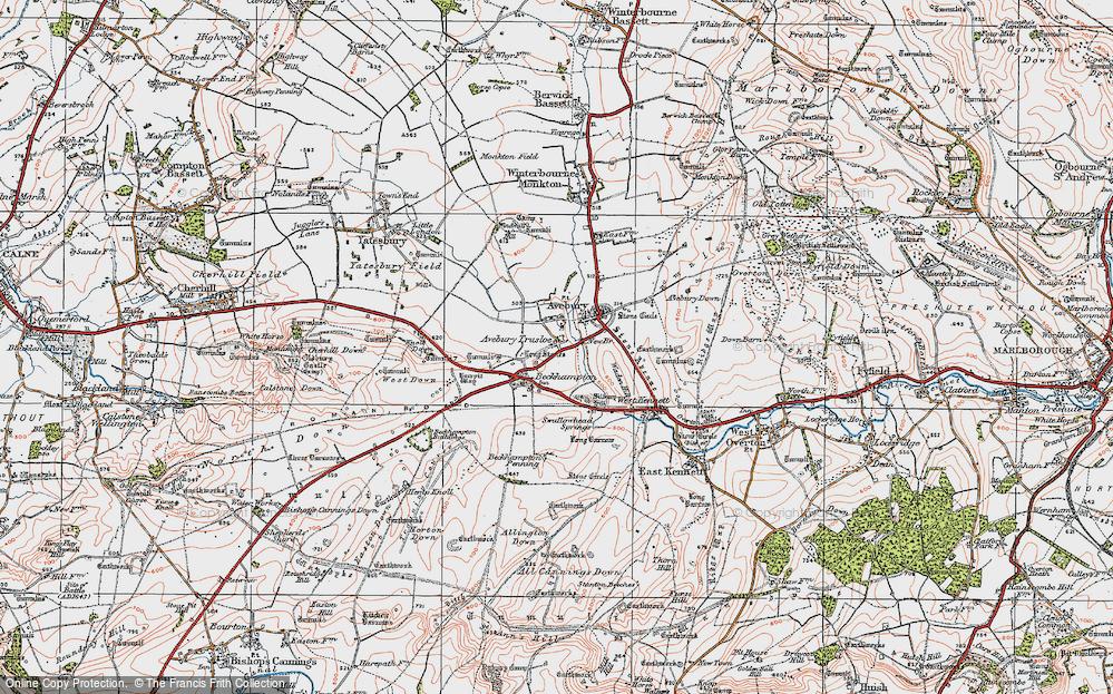 Old Map of Avebury Trusloe, 1919 in 1919