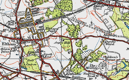 Old map of Avery Hill in 1920