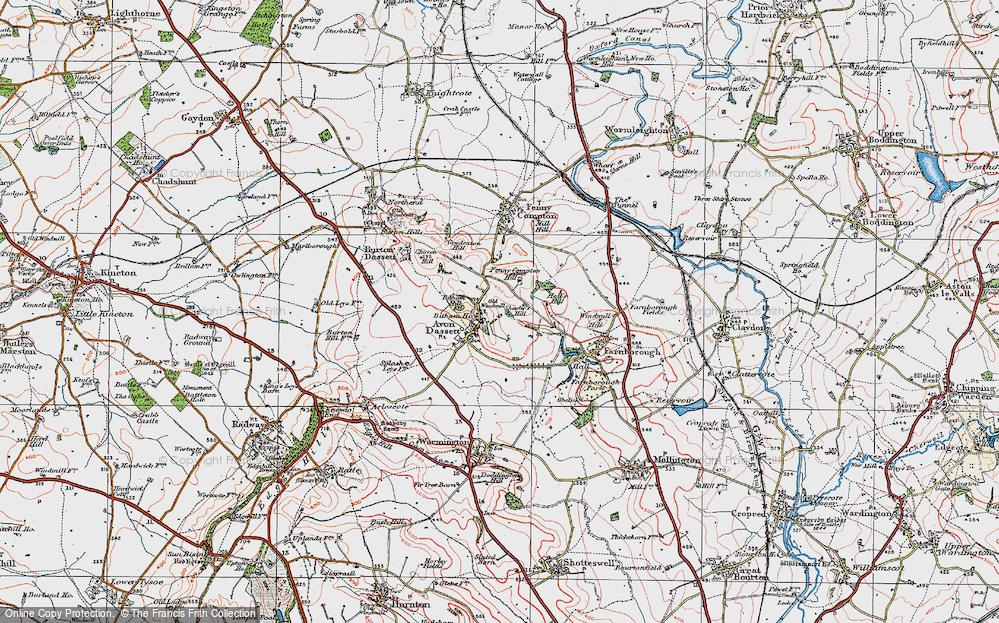 Old Map of Avon Dassett, 1919 in 1919