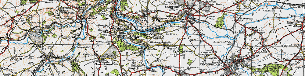 Old map of Avoncliff in 1919