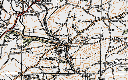 Old map of Avonwick in 1919