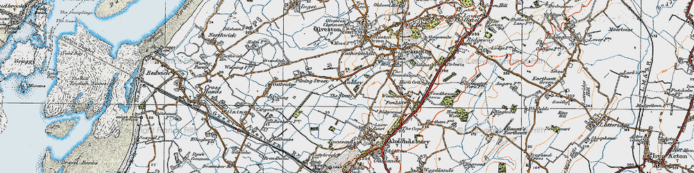 Old map of Awkley in 1919