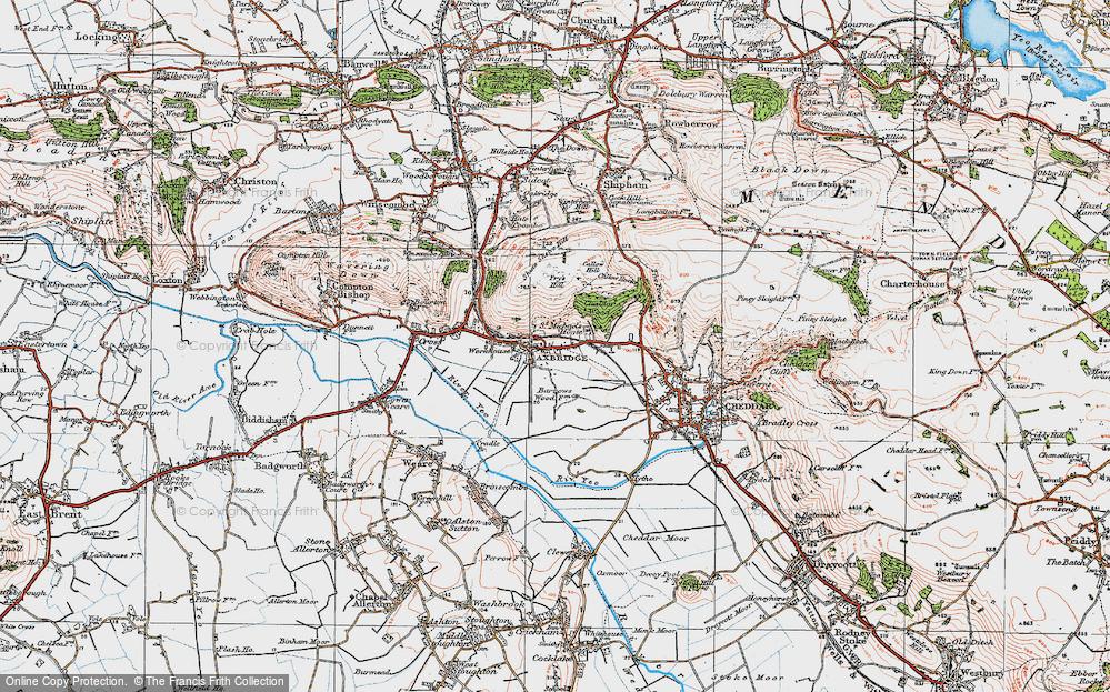 Old Map of Axbridge, 1919 in 1919