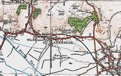 Old map of Axbridge in 1919
