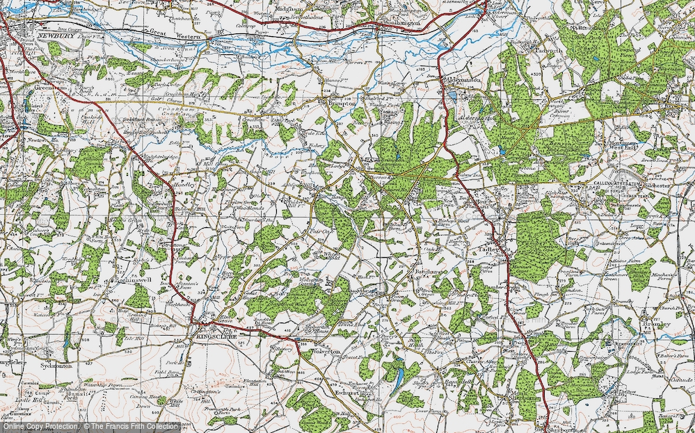 Old Map of Axmansford, 1919 in 1919