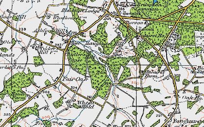 Old map of Axmansford in 1919
