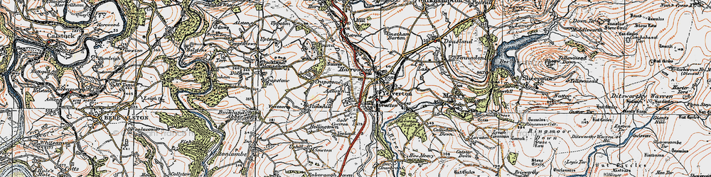 Old map of Axtown in 1919