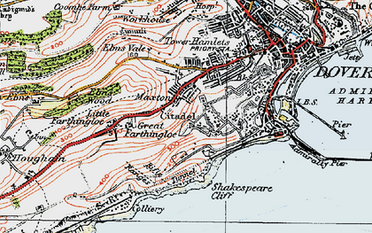 Old map of Aycliff in 1920