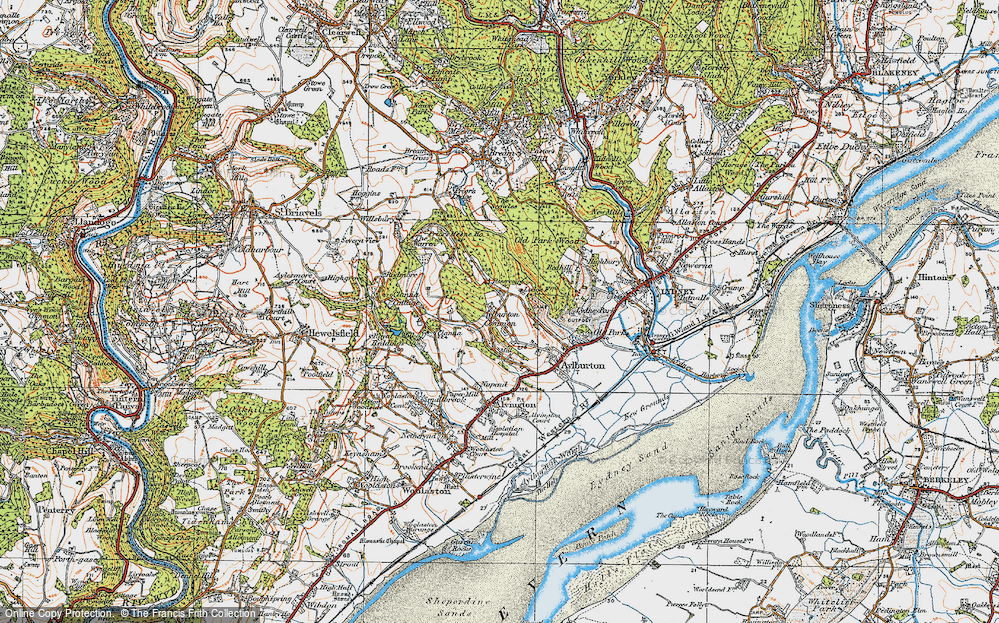 Old Map of Aylburton Common, 1919 in 1919