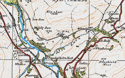 Old map of Ayle in 1925