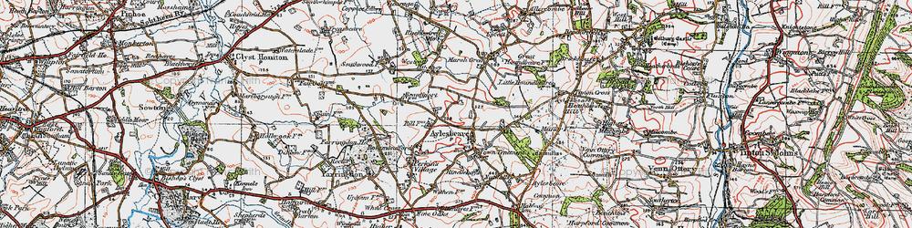 Old map of Aylesbeare in 1919