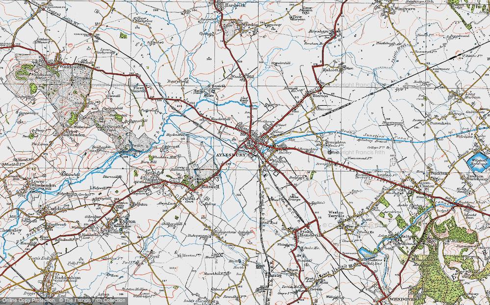 Old Map of Aylesbury, 1919 in 1919