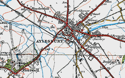 Old map of Aylesbury in 1919