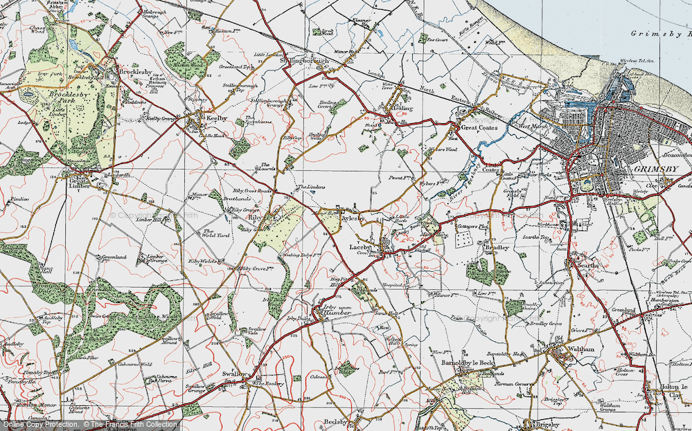 Old Map of Aylesby, 1923 in 1923