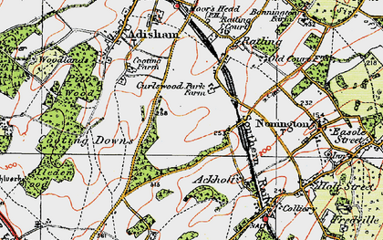 Old map of Aylesham in 1920