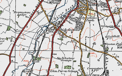 Old map of Aylestone in 1921