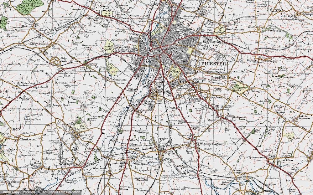 Old Map of Aylestone Park, 1921 in 1921