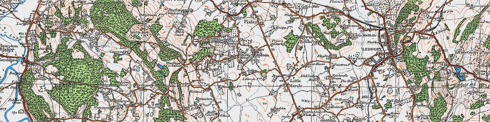 Old map of Aylton in 1920