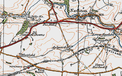 Old map of Aylworth in 1919