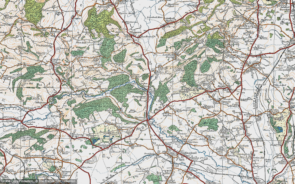 Old Map of Aymestrey, 1920 in 1920