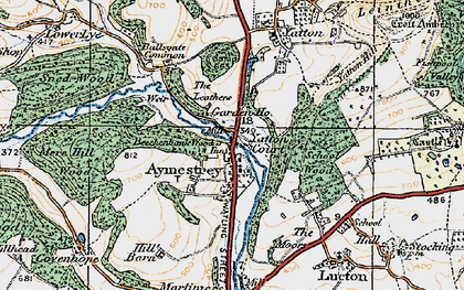 Old map of Aymestrey in 1920