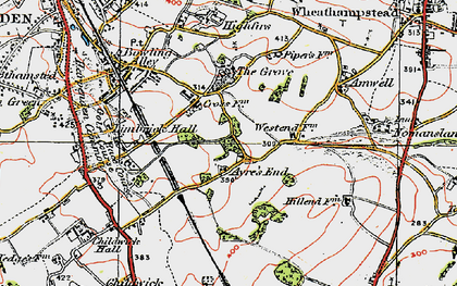 Old map of Ayres End in 1920